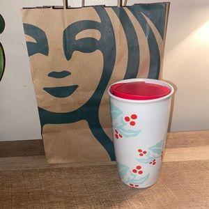 Starbucks ceramic travel mug tumbler NWOT